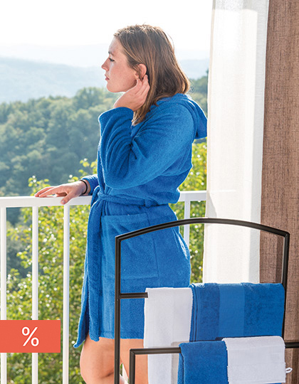 Quick-Dry Bathrobe Hooded / Lady